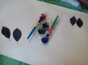Leaf Painting – Day 23 of 100 Activity Days